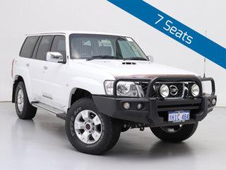 2015 Nissan Patrol GU Series 9 ST (4x4) White 4 Speed Automatic Wagon.