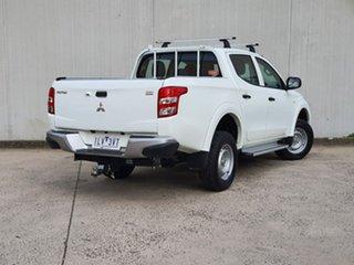 2017 Mitsubishi Triton MQ MY17 GLX Double Cab White 6 Speed Manual Utility.
