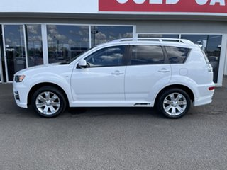2010 Mitsubishi Outlander ZH MY10 RX White 6 Speed Constant Variable Wagon