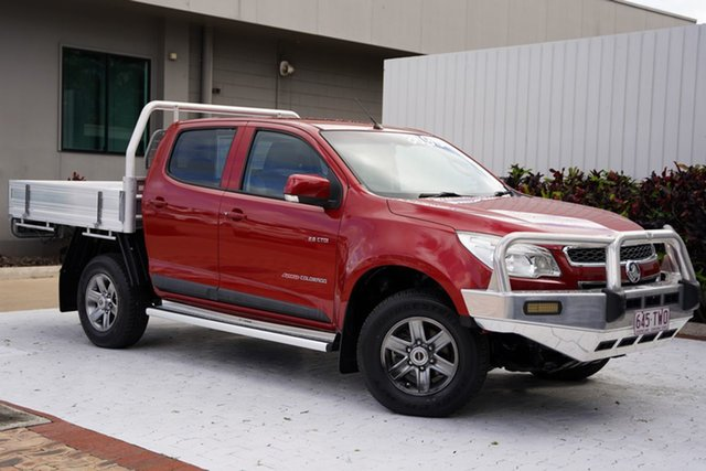 Used Holden Colorado RG MY14 LX Crew Cab Cairns, 2014 Holden Colorado RG MY14 LX Crew Cab Red 6 Speed Manual Cab Chassis