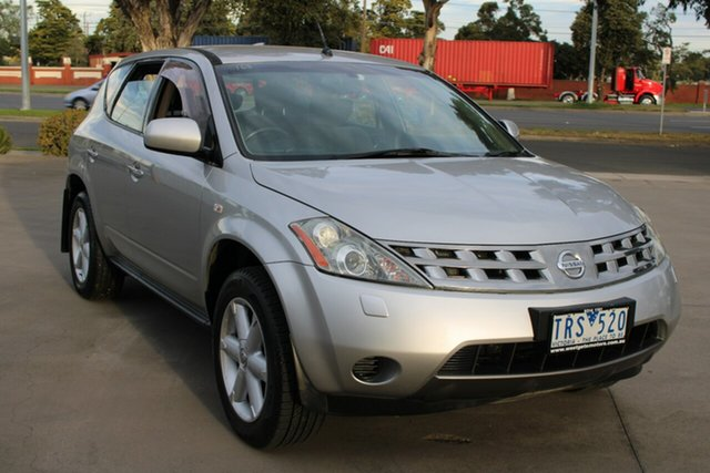 Used Nissan Murano Z50 ST West Footscray, 2005 Nissan Murano Z50 ST Silver Continuous Variable Wagon
