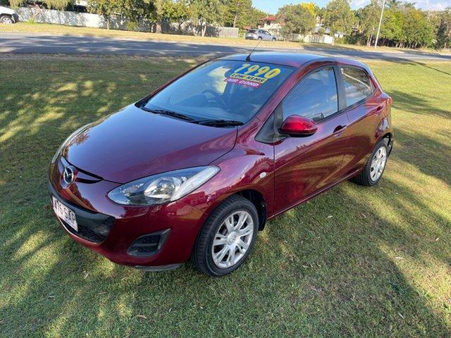 Used Mazda 2 DE10Y1 MY11 Neo Clontarf, 2011 Mazda 2 DE10Y1 MY11 Neo Maroon 5 Speed Manual Hatchback