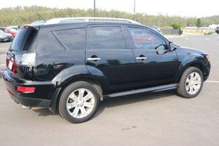 2010 Mitsubishi Outlander ZH MY10 XLS Black 6 Speed Constant Variable Wagon.