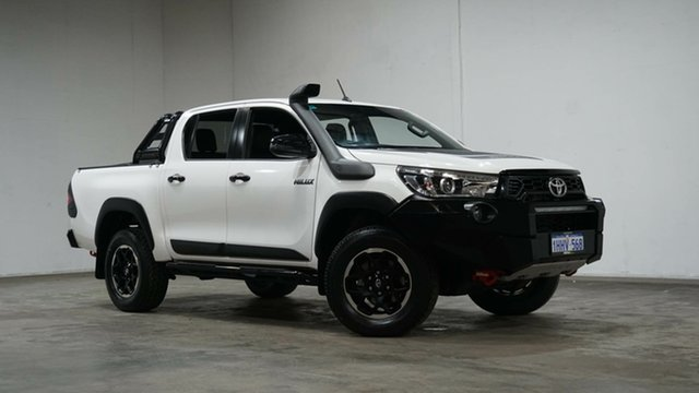 Used Toyota Hilux GUN126R Rugged X Double Cab Welshpool, 2018 Toyota Hilux GUN126R Rugged X Double Cab White 6 Speed Sports Automatic Utility