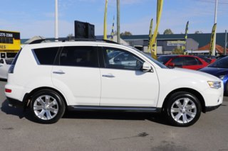 2011 Mitsubishi Outlander ZH MY12 VR-X White Solid 6 Speed Sports Automatic Wagon