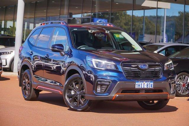 Demo Subaru Forester S5 Gosnells, 2021 Subaru Forester S5 2.5i Sport Blue Constant Variable SUV