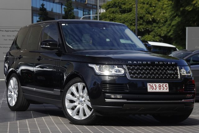 Used Land Rover Range Rover L405 14.5MY HSE Newstead, 2014 Land Rover Range Rover L405 14.5MY HSE Black 8 Speed Sports Automatic Wagon