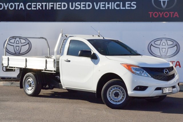 Pre-Owned Mazda BT-50 XT (4x2) Warwick, 2011 Mazda BT-50 XT (4x2) White 6 Speed Manual Cab Chassis