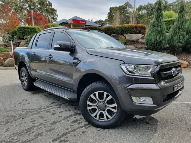 Used Ford Ranger PX MkII Wildtrak Double Cab Totness, 2016 Ford Ranger PX MkII Wildtrak Double Cab Grey 6 Speed Sports Automatic Utility