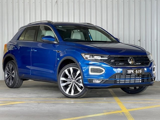 Demo Volkswagen T-ROC A1 MY21 140TSI DSG 4MOTION Sport Moorabbin, 2021 Volkswagen T-ROC A1 MY21 140TSI DSG 4MOTION Sport Blue 7 Speed Sports Automatic Dual Clutch