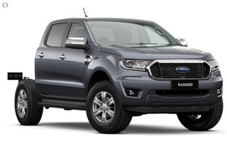 2021 Ford Ranger PX MkIII 2021.25MY XLT Double Cab Grey 10 Speed Sports Automatic Double Cab Chassis.