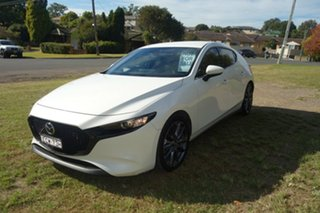 2019 Mazda 3 BP2H7A G20 SKYACTIV-Drive Touring White 6 Speed Sports Automatic Hatchback.