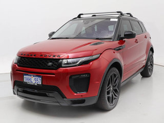 2016 Land Rover Range Rover Evoque LV MY16 TD4 180 HSE Dynamic Firenze Red 9 Speed Automatic Wagon.
