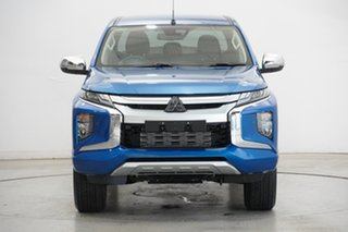 2020 Mitsubishi Triton MR MY20 GLS Double Cab Blue 6 Speed Sports Automatic Utility.