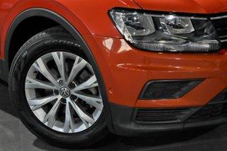 2016 Volkswagen Tiguan 5N MY17 110TSI DSG 2WD Trendline Orange 6 Speed Sports Automatic Dual Clutch.