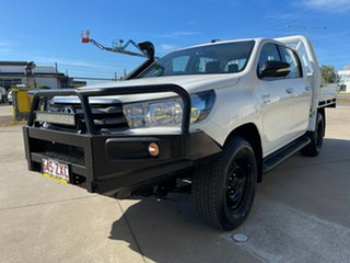 2017 Toyota Hilux GUN126R SR Double Cab White/300517 6 Speed Sports Automatic Cab Chassis