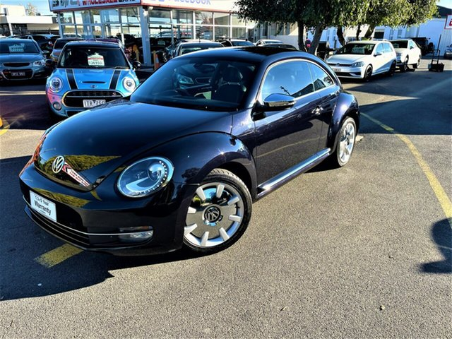 Used Volkswagen Beetle 1L MY13 Fender Edition Coupe DSG Seaford, 2013 Volkswagen Beetle 1L MY13 Fender Edition Coupe DSG Black 7 Speed Sports Automatic Dual Clutch