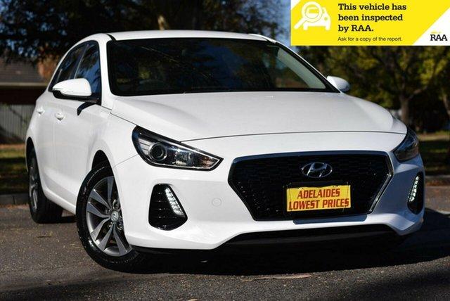 Used Hyundai i30 PD MY18 Active D-CT Cheltenham, 2017 Hyundai i30 PD MY18 Active D-CT White 7 Speed Sports Automatic Dual Clutch Hatchback