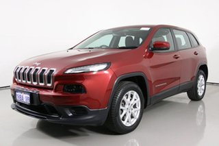 2015 Jeep Cherokee KL MY15 Sport (4x2) Red 9 Speed Automatic Wagon.