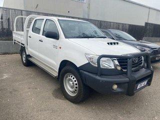 2015 Toyota Hilux KUN26R MY14 SR (4x4) Glacier White 5 Speed Automatic Dual Cab Pick-up.