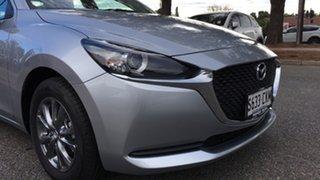 2021 Mazda 2 DL2SA6 G15 SKYACTIV-MT Pure Sonic Silver 6 Speed Manual Sedan.