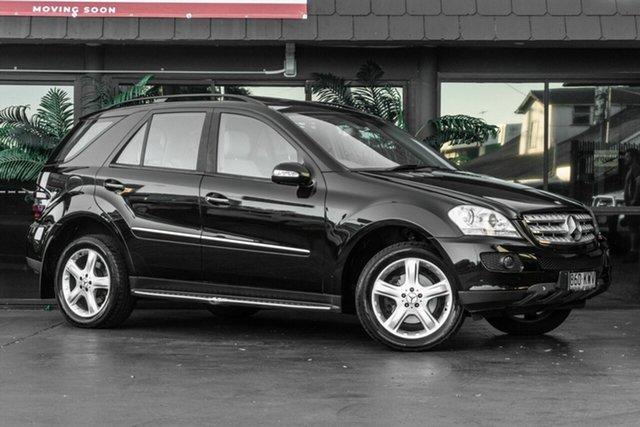 Used Mercedes-Benz M-Class W164 MY08 ML280 CDI Bowen Hills, 2007 Mercedes-Benz M-Class W164 MY08 ML280 CDI Black 7 Speed Sports Automatic Wagon
