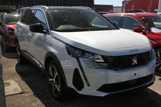 2021 Peugeot 5008 P87 MY21 GT White 6 Speed Automatic Wagon.