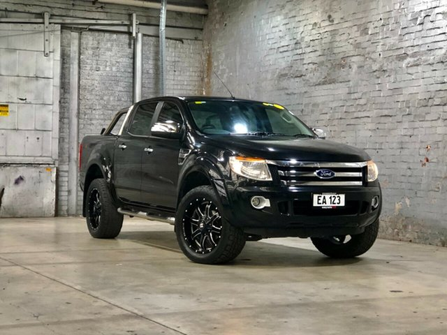 Used Ford Ranger PX XLT Double Cab Mile End South, 2015 Ford Ranger PX XLT Double Cab Black 6 Speed Sports Automatic Utility