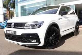 2018 Volkswagen Tiguan 5NA MY19 Wolfsburg Edition Oryx White Pearl 7 Speed Auto Direct Shift Wagon.