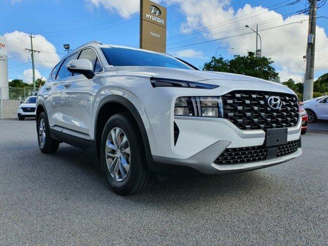 New Hyundai Santa Fe Tm.v3 MY21 DCT Springwood, 2021 Hyundai Santa Fe Tm.v3 MY21 DCT White Cream 8 Speed Sports Automatic Dual Clutch Wagon