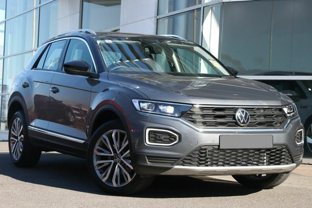 New Volkswagen T-ROC A1 MY21 110TSI Style Liverpool, 2021 Volkswagen T-ROC A1 MY21 110TSI Style Indium Grey 8 Speed Sports Automatic Wagon