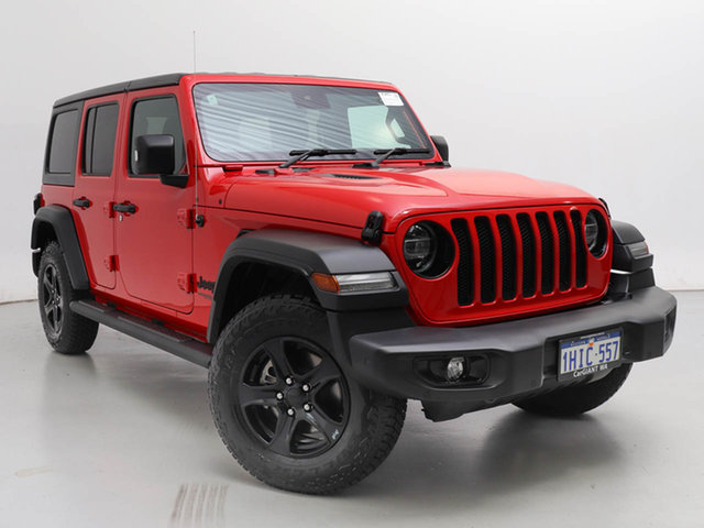 Used Jeep Wrangler Unlimited JL MY21 Night Eagle (4x4), 2021 Jeep Wrangler Unlimited JL MY21 Night Eagle (4x4) Red 8 Speed Automatic Hardtop