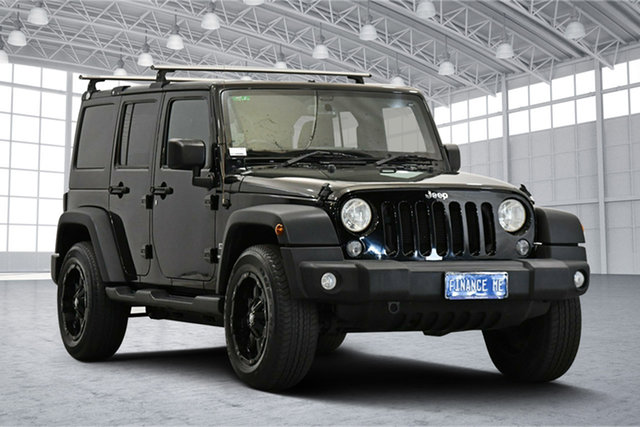Used Jeep Wrangler JK MY18 Unlimited Sport Victoria Park, 2018 Jeep Wrangler JK MY18 Unlimited Sport Black 5 Speed Automatic Softtop