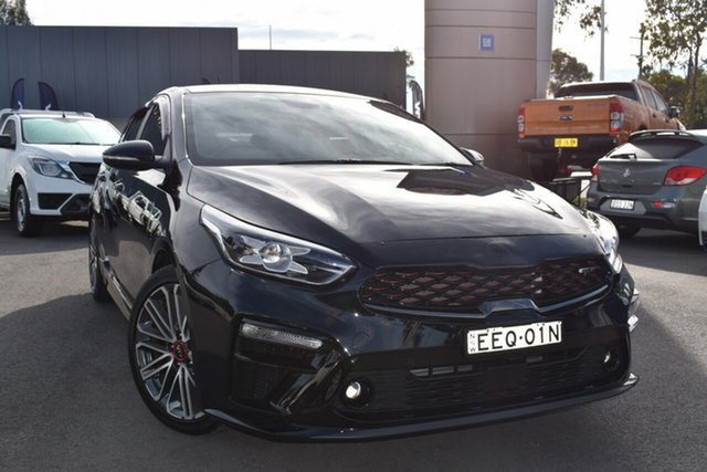 Used Kia Cerato BD MY19 GT DCT Tuggerah, 2019 Kia Cerato BD MY19 GT DCT Black 7 Speed Sports Automatic Dual Clutch Hatchback