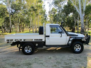 2014 Toyota Landcruiser VDJ79R MY12 Update GXL (4x4) French Vanilla 5 Speed Manual Cab Chassis.