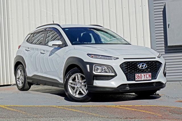 Used Hyundai Kona OS MY18 Active 2WD Springwood, 2018 Hyundai Kona OS MY18 Active 2WD White 6 Speed Sports Automatic Wagon