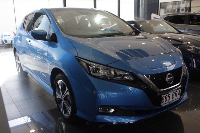 Demo Nissan Leaf ZE1 e+ Newstead, 2020 Nissan Leaf ZE1 e+ Vivid Blue 1 Speed Reduction Gear Hatchback