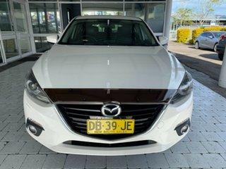 2016 Mazda 3 SP25 White Sports Automatic Hatchback.