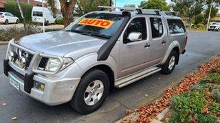 2008 Nissan Navara D40 ST-X (4x4) Silver 5 Speed Automatic Dual Cab Pick-up.