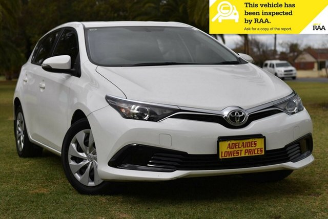 Used Toyota Corolla ZRE182R Ascent S-CVT Melrose Park, 2018 Toyota Corolla ZRE182R Ascent S-CVT White 7 Speed Constant Variable Hatchback