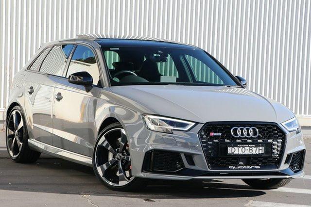 Used Audi RS 3 8V MY18 Sportback S Tronic Quattro Wollongong, 2017 Audi RS 3 8V MY18 Sportback S Tronic Quattro Nardo Grey 7 Speed Sports Automatic Dual Clutch