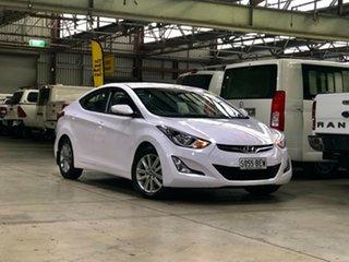 2014 Hyundai Elantra MD3 Elite White 6 Speed Sports Automatic Sedan.