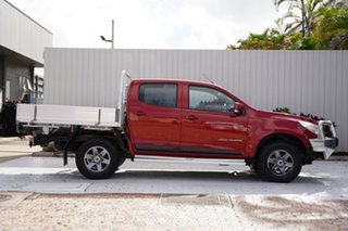 2014 Holden Colorado RG MY14 LX Crew Cab Red 6 Speed Manual Cab Chassis.