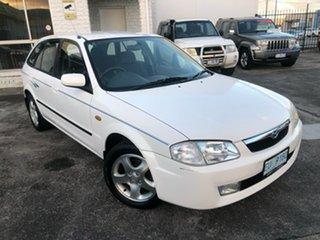 1998 Mazda 323 BJ Astina White 4 Speed Automatic Hatchback.