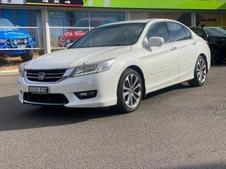 2014 Honda Accord V6L White Sports Automatic Sedan.