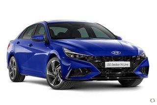 2021 Hyundai i30 CN7.V1 MY21 N Line Intense Blue 6 Speed Manual Sedan