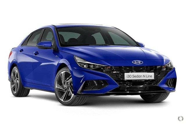 New Hyundai i30 CN7.V1 MY21 N Line Nailsworth, 2021 Hyundai i30 CN7.V1 MY21 N Line Intense Blue 6 Speed Manual Sedan