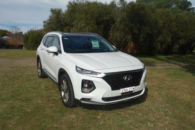 Used Hyundai Santa Fe TM MY19 Highlander East Maitland, 2018 Hyundai Santa Fe TM MY19 Highlander White 8 Speed Sports Automatic Wagon