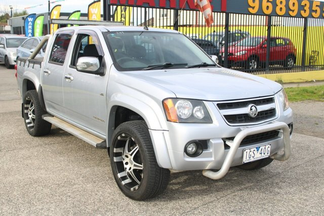Used Holden Colorado RC MY10 LT-R (4x2) West Footscray, 2009 Holden Colorado RC MY10 LT-R (4x2) Silver 4 Speed Automatic Crew Cab Pickup