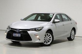 2017 Toyota Camry AVV50R MY16 Atara S Hybrid Silver Continuous Variable Sedan.